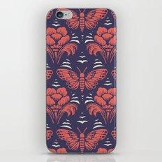 butterfly damask (stark) iPhone & iPod Skin
