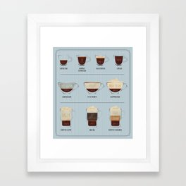 Coffee Lover Framed Art Print