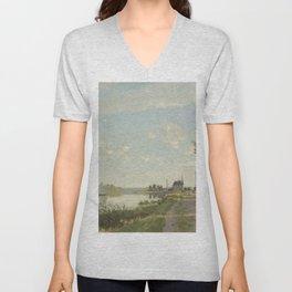 Claude Monet Argenteuil c. 1872 Painting Unisex V-Neck