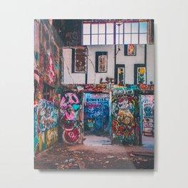 Abandoned Building Graffiti Metal Print