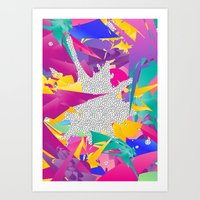 80s Art Prints featuring 80s Abstract by Danny Ivan