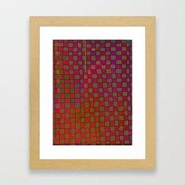 Manual Grid Fall Digital Framed Art Print