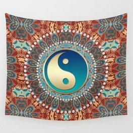 Bohemian Batik Yin Yang Wall Tapestry
