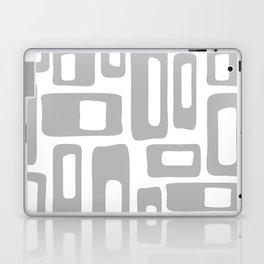 Retro Mid Century Modern Abstract Pattern 336 Gray Laptop & iPad Skin