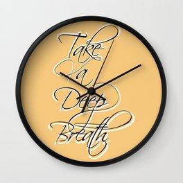 Aesthetic Breathe Lettering Wall Clock