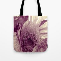 sunflower Tote Bags featuring Sunflower by Laake-Photos