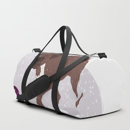 playing in the snow Duffle Bag