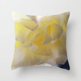 Rose Yellow Throw Pillow