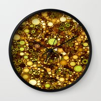 solid color Wall Clocks featuring :: Solid Gold :: by :: GaleStorm Artworks ::