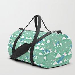 Sea unicorn - Narwhal green Duffle Bag