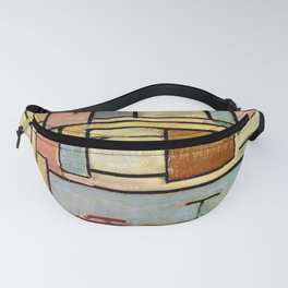 Piet Mondrian - Composition with Color Areas - Abstract Painting Fanny Pack