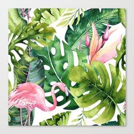 Tropical & flamingo collection Canvas Print