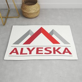 Alyeska Alaska Ski Snowboard Skiing Trail Map Resort Anchorage Valdez Rug