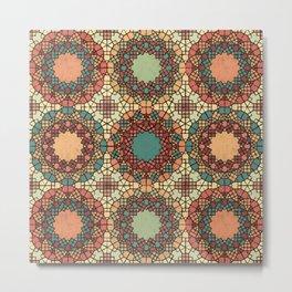 Textured Islamic Geometric Metal Print