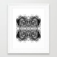 sagan Framed Art Prints featuring Sagan Fractal by Mark Albritton