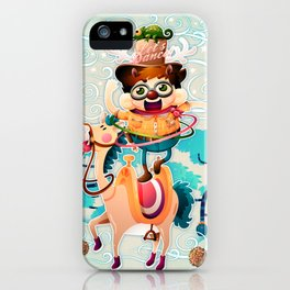 The dancing cowboy iPhone Case