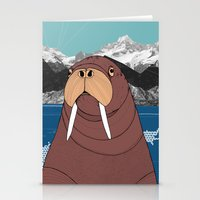 walrus Stationery Cards featuring Walrus by Diana Hope