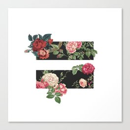 floral equality symbol Canvas Print