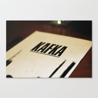 kafka Canvas Prints featuring Kafka. by tomwaitsforme