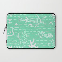 Carnival Glass Sea Life Stripes No. 2 Laptop Sleeve