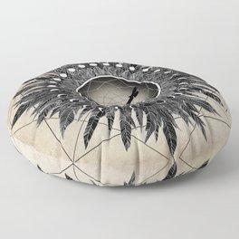 Crow Twilight Dreamcatcher Floor Pillow