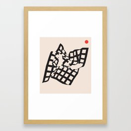 Peace and Broken Teeth 3 Framed Art Print