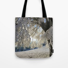 Frost Covered Tree Tote Bag