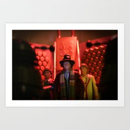 Doctor Who in Trouble! Art Print