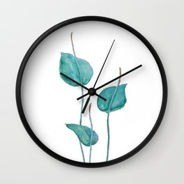Adder's tongue fern painting Wall Clock