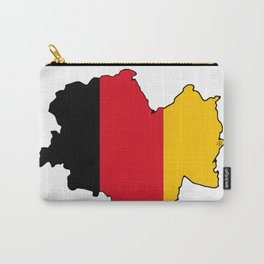 Germany Map with German Flag Carry-All Pouch
