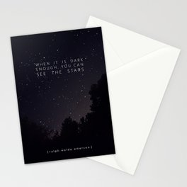 SEE THE STARS - RALPH WALDO EMERSON Stationery Cards