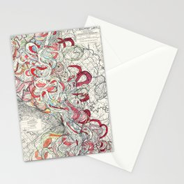 Cool Vintage Map of Mississippi River - Sheet 6 Stationery Cards