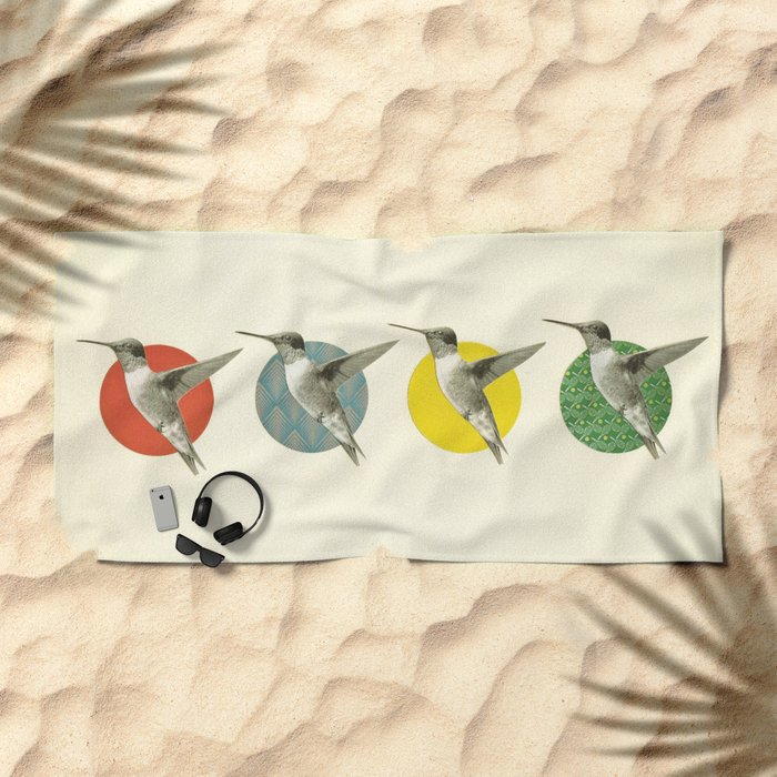 The Hummingbird Dance Beach Towel
