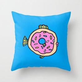 Donut fish Throw Pillow