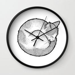 SLEEPING CAT Wall Clock