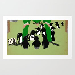 Penguin discovery Art Print