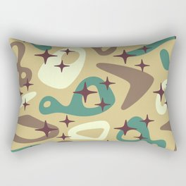 Retro Mid Century Modern Abstract Composition 940 Rectangular Pillow