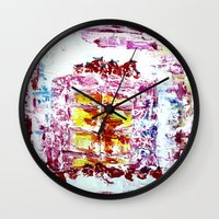 cake Wall Clocks featuring Cake by Andreea Maria Has