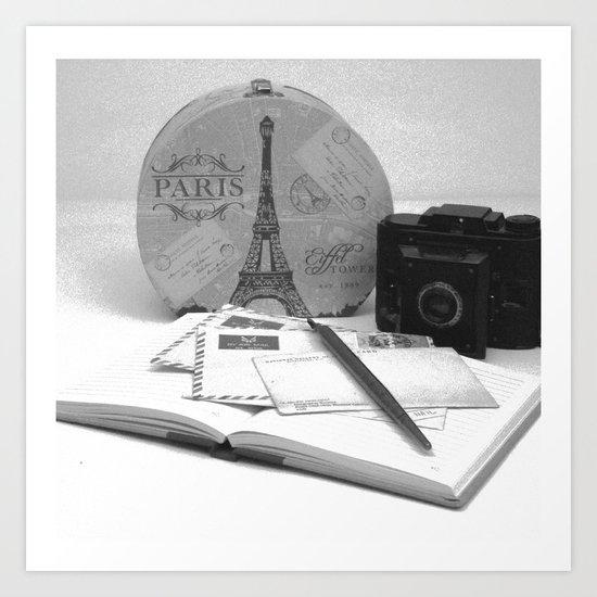Love Letters From Paris Art Print