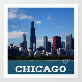 Cities Of America All Over: CHICAGO Art Print