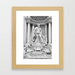 Postcards from Italy: Fontana Di Trevi Framed Art Print