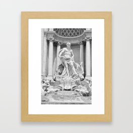 Postcards from Italy: Fontana Di Trevi Framed Art Print