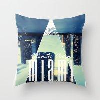miami Throw Pillows featuring MIAMI by Kami