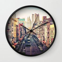 New York City Above Chinatown Wall Clock