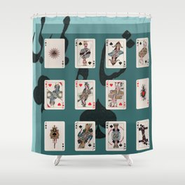 Persian Playing Cards Shower Curtain