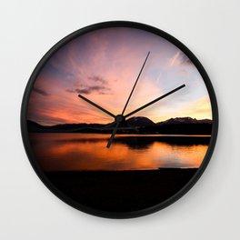 Lake Dillon Sunset  Wall Clock