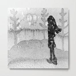 girl and trees Metal Print