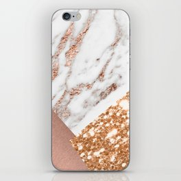 Layers of rose gold iPhone Skin