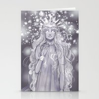 valar morghulis Stationery Cards featuring Varda, valar of light by AlyTheKitten