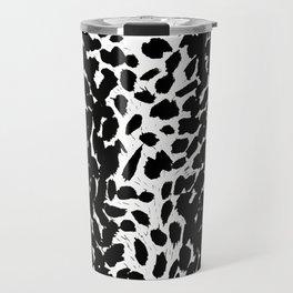 Animal Print Cheetah Love Black and White #2 Collection Travel Mug